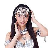 AvaCostume Belly Dance Headband Tribal Coined Headband Gypsy Jewelry