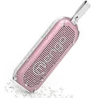 Waterproof Bluetooth Speaker - Outdoor Wireless Bluetooth Speaker [10-Watt Deep Bass Portable Speaker] with 12 Hour Battery Life – Pink