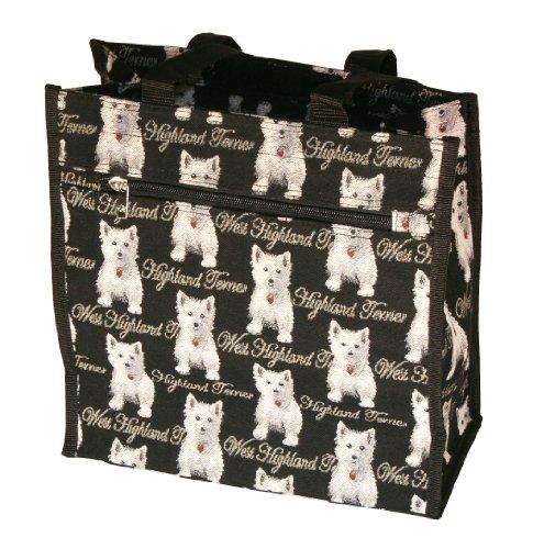 Bolso tapiz Shopper de moda Signare para mujer bolso de hombro animal Blanco