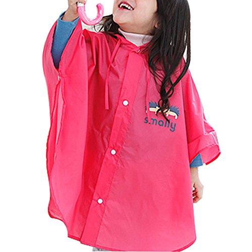 Colore Impermeabile A Prova Piccolo Rosa Di Solido Vento Fumetto Bozevon Del Bambino Rainwear xwvqzxX64