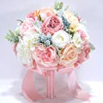 Abbie-Home-10-inches-Bride-Bouquets-Artificial-Wedding-Flower-Real-Touch-Blooming-Rose-Peony-Holding-Bouquet-with-Satin-Ribbon-Dcor-Blush-Pink