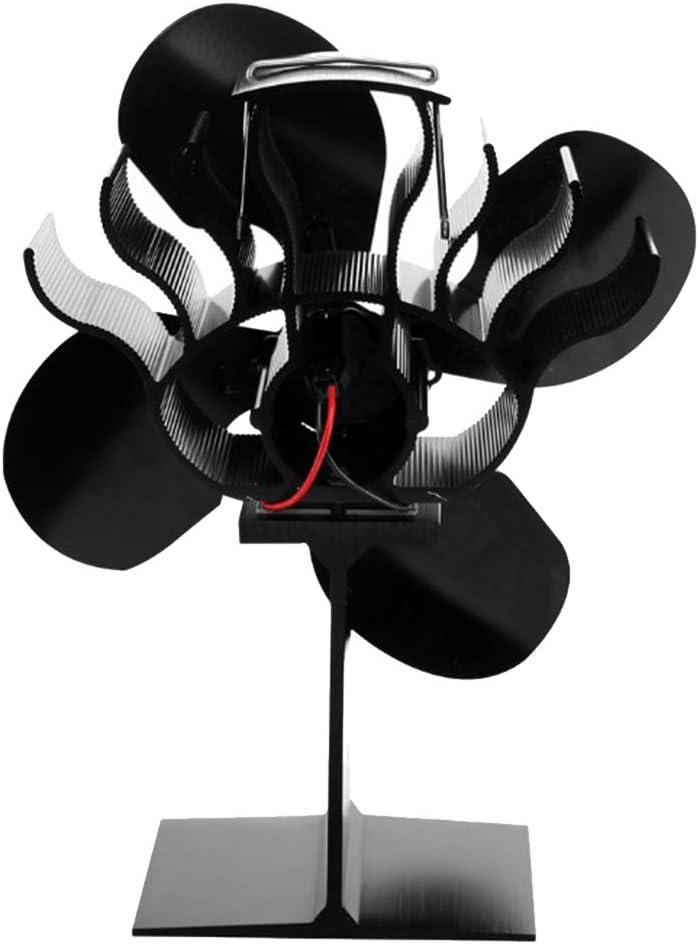 non-brand Sharplace Ventilador de Chimenea Termodinámico para Estufa de Leña, Resistente al Alta Temperatura, Buena Eficiencia Energética