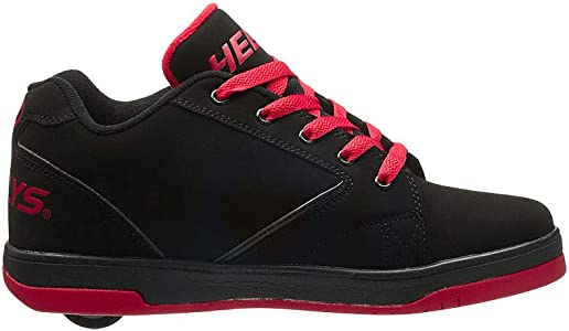 New Heelys Propel 2.0 Wheels Skating Adult Shoes Black//Red//Confetti 770807