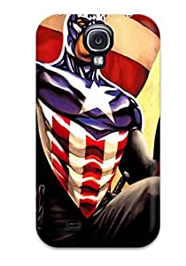 Cute Appearance Cover/tpu PaGATgX13224MtnrM Captain America Comic Avenger Soldier Superhero Action Fiction Fantasy Marvel Cartoon Paint Book Nov Anime Other Case For Galaxy S4