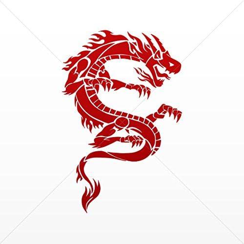 Amazon Com Sticker Decal High Detail Dragon Car Door Hobbies Sports Car Red Dark 5 X 3 28 Inches Furniture Decor