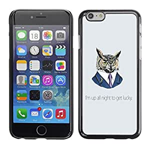 LECELL -- Funda protectora / Cubierta / Piel For Apple iPhone 6 Plus 5.5 -- Funny Up All Night Owl --