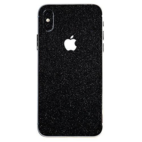 iPhone X Bling Skin Decal,Tectom iPhone 10 Protection Sticker - Dustproof,Anti-Scratch Wrap Skin for Apple iPhone X (Black)