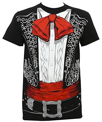 Impact Original Men's Three Amigos Mariachi Costume T-Shirt Black (Three Amigos Costume)