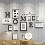 LQQGXL Photo frame collage 9 picture frame creative wall pendant living room photo wall decoration Photo frame ( Color : A )