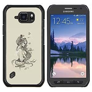 Caucho caso de Shell duro de la cubierta de accesorios de protección BY RAYDREAMMM - Samsung Galaxy S6Active Active G890A - Cráneo del azúcar de la mujer - Pop Art