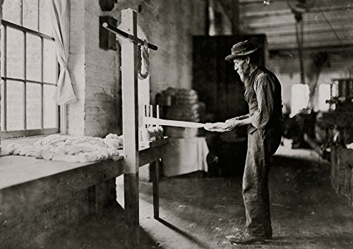 Posterazzi GLP469052LARGE Poster Print Collection Rhodes Mfg. Company Lincolnton N.C. Old Man Inspecting Yarn. Been In Cotton Mills Over 20 Years. Poster Print, (24 X 36), Multicolored from Posterazzi