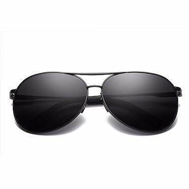 Herren Polarisierte Sonnenbrille Aviator Freien UV400 60MM Tac Gläser für das Fahren - BLDEN GL8013-BLACK BB7HF
