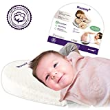 Mooomy Acid Reflux Pillow for Newborns - Improve Sleep Position by Elevating the Upper Body with 12 Degrees - Baby Wedge Pillow for Relief and Acid Reflux - Comfortable Waterproof & Hypoallergenic Image