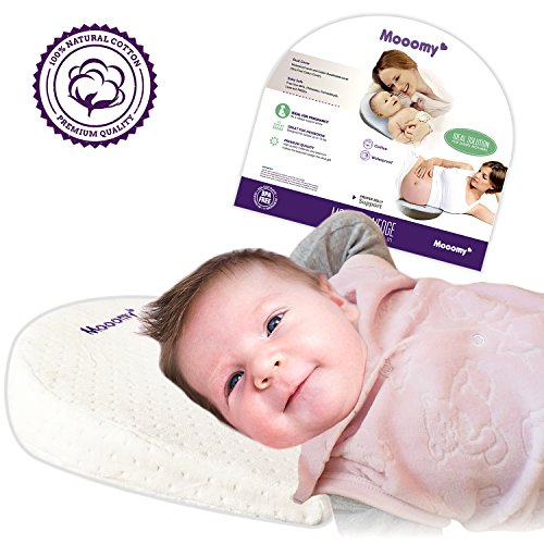 Mooomy Acid Reflux Pillow for Newborns - Improve Sleep Position by Elevating the Upper Body with 12 Degrees - Baby Wedge Pillow for Relief and Acid Reflux - Comfortable Waterproof & Hypoallergenic