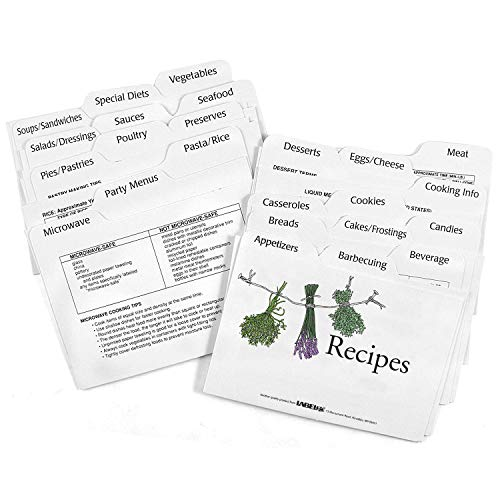 Recipe Card Divider 3-by-5-Inch Set (3 X 5 Recipe Cards)