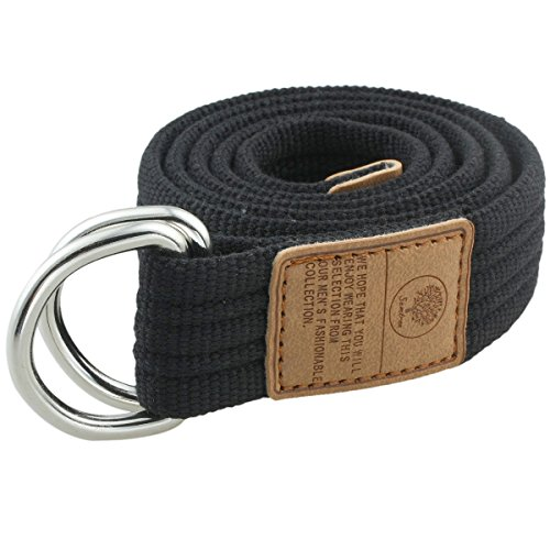 moonsix Canvas Web Belts for Men, Military Style D-ring Buckle Men's Belt, ()
