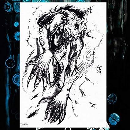 lihaohao Fire Fox Rose Wolf Pluma Acuarela Etiqueta Engomada del ...