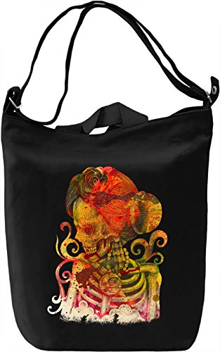 Girl Skull Borsa Giornaliera Canvas Canvas Day Bag| 100% Premium Cotton Canvas| DTG Printing|