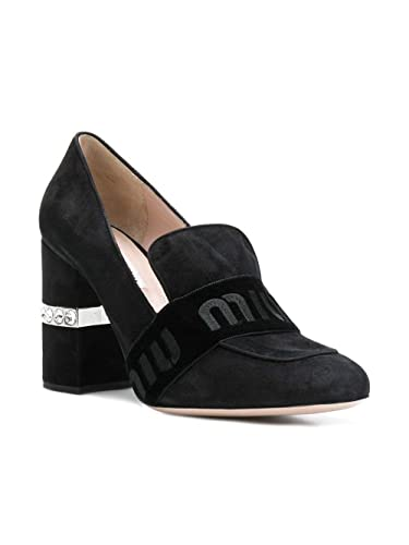 miu miu Decolleté Donna 5D145CF0853H5HF0002 Pelle Nero  Amazon.it  Scarpe e  borse eb19b470bef