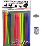 20 Chicken Charm 2 Poultry Leg Bands - Fits Sizes 6 to 14