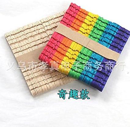 Amazon Com 100 Pcs Craft Sticks Ice Cream Sticks Wooden Popsicle