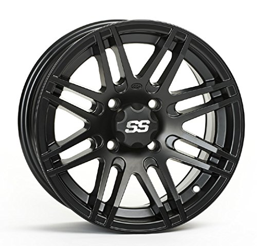 ITP SS ALLOY SS316 Matte Black Wheel with Machined Finish (14x7''/4x110mm)