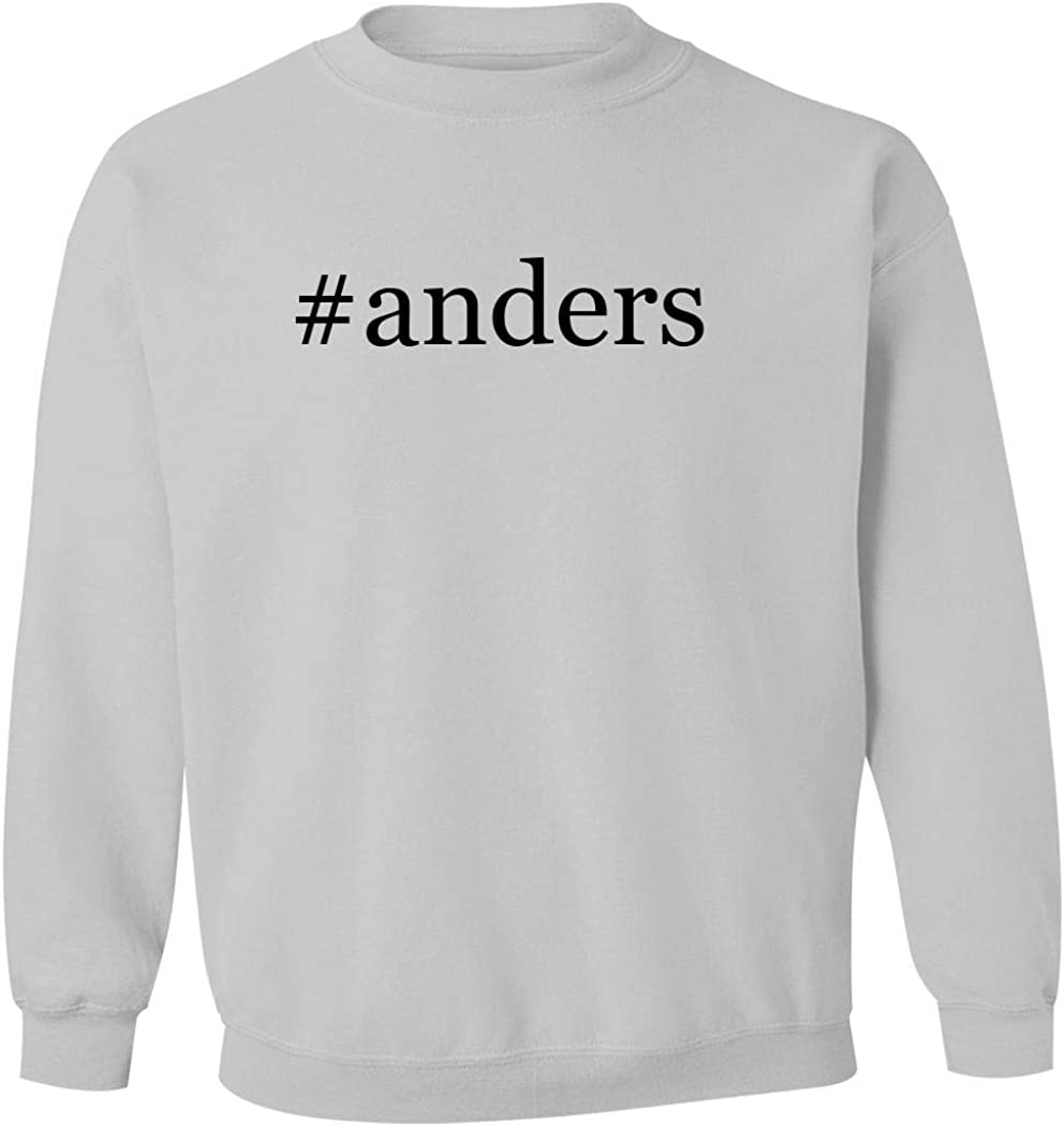 #anders - Men's Hashtag Pullover Crewneck Sweatshirt, White, XX-Large 51o9ApCkcUL