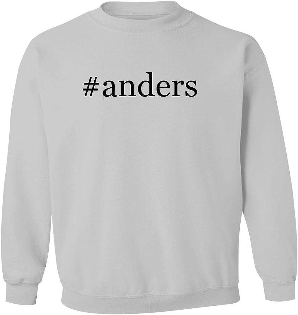 #anders - Men's Hashtag Pullover Crewneck Sweatshirt, White, Large
