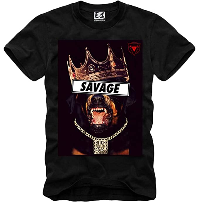 E1SYNDICATE T-SHIRT ROTTWEILER SAVAGE LAST KINGS SUPREME BOY HBA YEEZUS  LONDON NEGRO S-XL  Amazon.es  Ropa y accesorios c3e3c39e32f