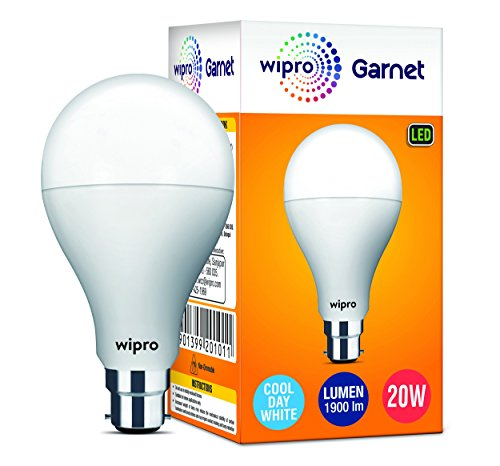 Wipro Garnet A60 Base B22 20-Watt LED Bulb (White)