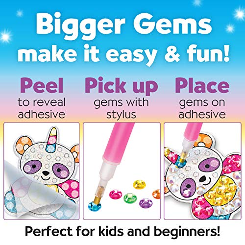 Creativity for Kids Big Gem Diamond Painting Kit – Create Your Own Magical Stickers and Suncatchers – Diamond Art for…
