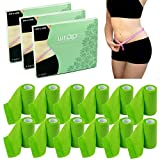 THE WRAP by Zen Jane - The Kit with The Roll - It Works to Tone Tighten & Firm - 4 Ultimate Body Contouring Cream Infused Cloths - Reduce Fat and Trim Down Inches (Three Boxes 12 Rolls)