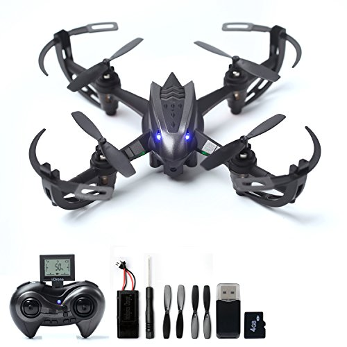 WOBOX RC Drone With 2MP HD Camera Quadcopter 4CH 6 Axis Gyroscope 24 GHz Remote Control W114G SD Card Reader Included