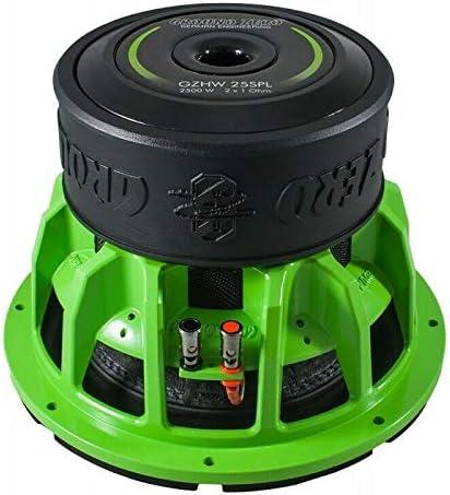 Subwoofer Ground Zero 25 Cm Gzhw 25spl 2500 Watt 2x1Ω Green 25 Cm Gadget Mini Pack With Sticker And Finiziopowerteam Key Ring Mp3 Hifi