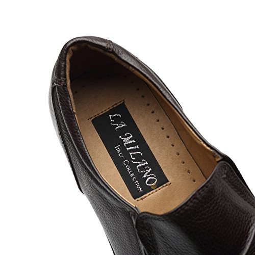 La Milano Men's Slip On Loafers Business Casual Comfortable Classic Leather Dress Shoes for Men by La Milano (Image #6)