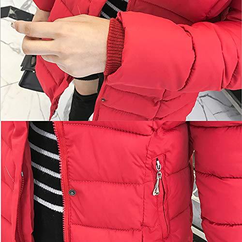 Rimovibile Parka Giacca Outwear Con Trapuntato Cappotto Caldo Donne Nero Xfentech Discesa Imbottito Invernali Cappuccio Signore Lunga qIqrg
