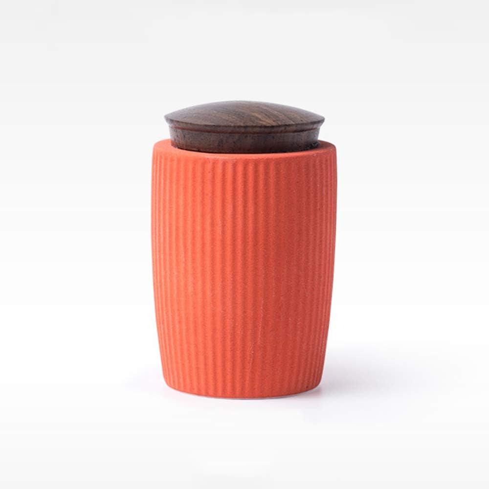 Airtight Food Dry Storage Container Ceramic Tea Canister Loose Leaf Tea Tin Coffee Sugar Powder And Granular Products Box,Orange