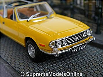 TRIUMPH STAG CAR MODEL 1//43RD SIZE YELLOW 2 DOOR SPORTS 1970S TYPE Y0675J^*^