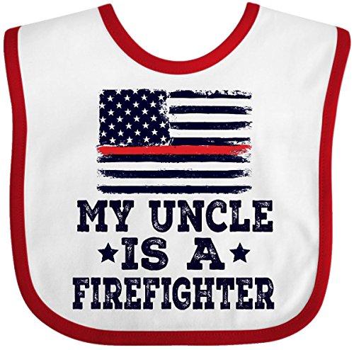 Inktastic - Firefighter Uncle Fireman Nephew Baby Bib White/Red 2ec67