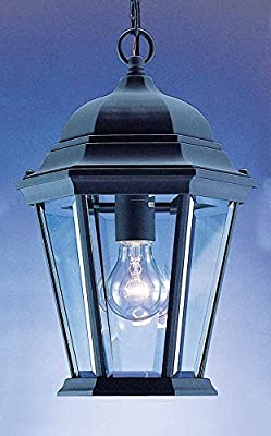 Volume Lighting V8222-5 1-Light Outdoor Pendant, Black