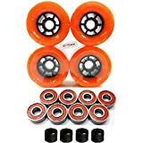 83mm Longboard Flywheels Wheels + ABEC 7 Bearings Spacers