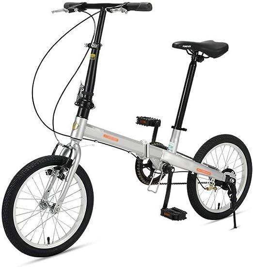 Bicicleta Plegable De Una Velocidad De 16 Pulgadas Niño Adulto ...