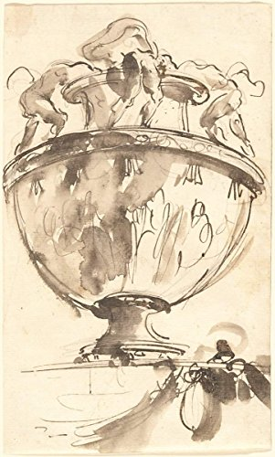 Fine Art Print | Giovanni Battista Piranesi | A Fantastic Vase 1745 | Vintage Wall Decor Poster Reproduction | 30in x 44in