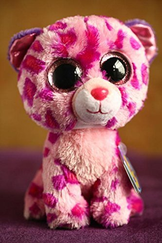 ef07f10aca8 Amazon.com   Ty Beanie Boos Glamour Leopard Plush Pink Soft Stuffed Animal  Dolls 15cm   Baby
