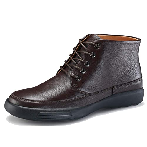 Look At Boots para Hombre Corbata High-Top Casual Shoes Thick ...