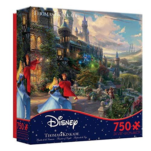Ceaco 750 Piece Thomas Kinkade The Disney Collection - Sleeping Beauty Enchanted Jigsaw Puzzle, Kids and Adults