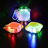 EverBrite 3-pack Magnetic Safety Lights, LED Dog Collar Lights for Pet, 3 Modes Assorted Colors Light with Carabiner for Night Walking, Running, Emergency Occasions Batteries Included