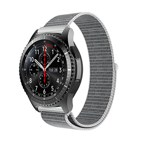 Price comparison product image MChoice Luxury Nylon Watch Bracelet Wrist Band Strap For Samsung Gear S3 Frontier (Silver)