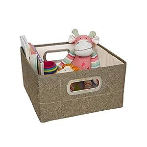 JJ Cole Storage Box, Heather Greige, 6.5″