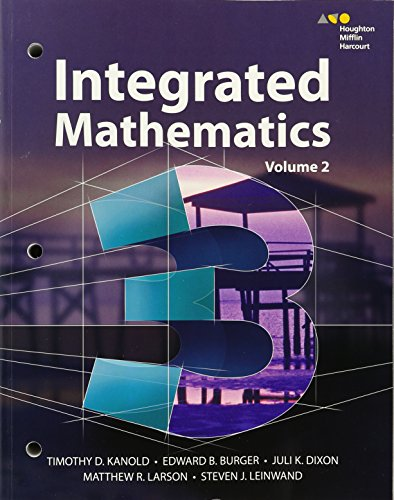 HMH Integrated Math 3: Interactive Student Edition Volume 2 (consumable) 2015